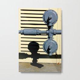Shadow Fold Metal Print