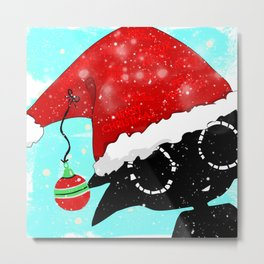 Santa Bloop Metal Print