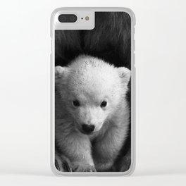 cute baby polar bear #society6 #decor #buyart Clear iPhone Case