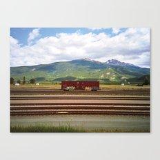 Train Car. Canvas Print