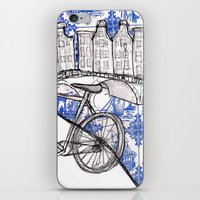 amsterdam iPhone & iPod Skins featuring Amsterdam by crocomila