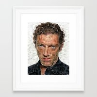 actor Framed Art Prints featuring French Actor by Miguel A. Martin