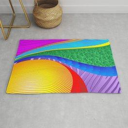 Rainbow Colors Abstract Fantasy Rug