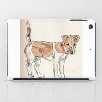 jack russell iPad Cases featuring Jack Russell Terrier by Bryan James