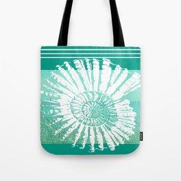 Nautilus Decor Mixed Media Piece Tote Bag