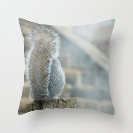 The shy squirrel Throw Pillow
