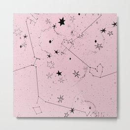 pink galaxi Metal Print