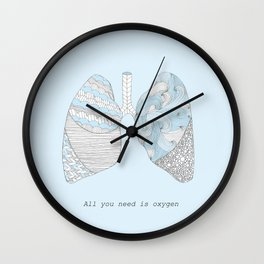 All You Need Is Oxygen Wall Clock