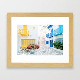 Santorini #decor #buyart #society6 Framed Art Print