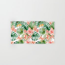 Tropical Jungle Hibiscus Flowers - Floral Hand & Bath Towel