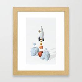 We have a lift off ! Framed Art Print