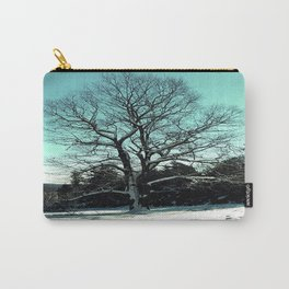 Wise Winter Tree Carry-All Pouch
