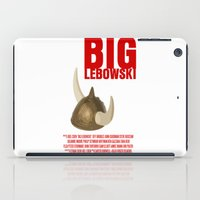 lebowski iPad Cases featuring BIG LEBOWSKI by FunnyFaceArt
