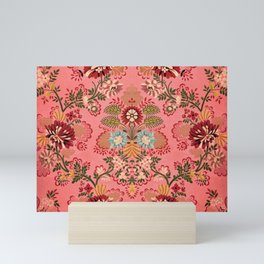 Pink Baroque Decoration vintage illustration pattern Mini Art Print
