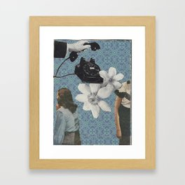 telephone collage Framed Art Print