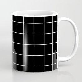 Grid Simple Line Black Minimalistic Coffee Mug