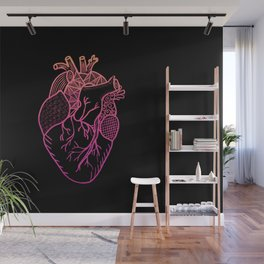 Designer Heart Colors Wall Mural