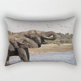 Éléphants, Parc national de Chobe, Botswana // Elephants, Chobe National Park, Botswana Rectangular Pillow