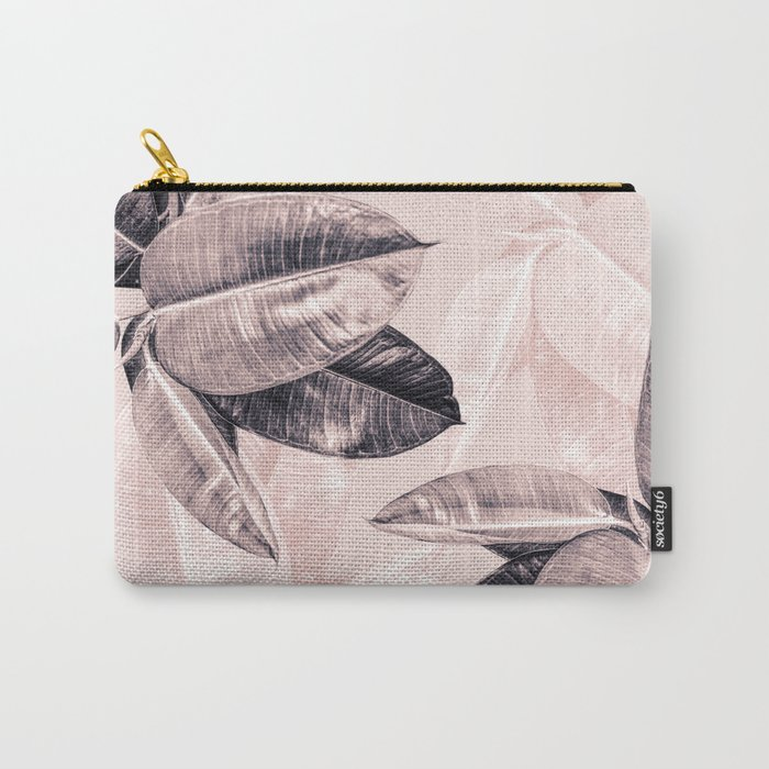 Leaf Photography Millennial Pink Pattern Carry-All Pouch