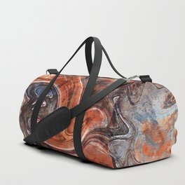 Orange marble watercolor Duffle Bag