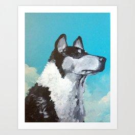 Vote For Dog Art Print