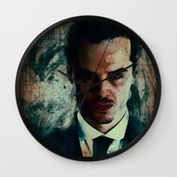 moriarty Wall Clocks featuring Moriarty by Sirenphotos