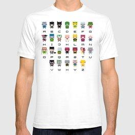 Pixel Supervillain Alphabet 2 T-shirt