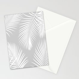 Gray Tropical Pattern Stationery Cards