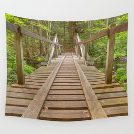 Forest Track Bridge Wall Tapestry