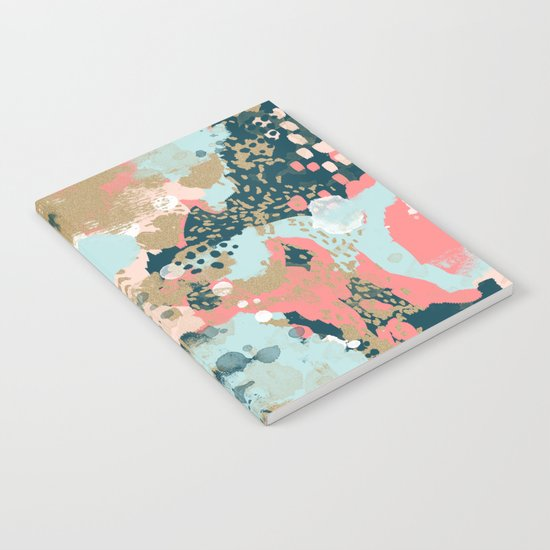 Eisley - Modern fresh abstract painting in bright colors perfect for trendy girls decor college Notebook