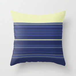 Light Yellow and Blue Stripes Throw Pillow