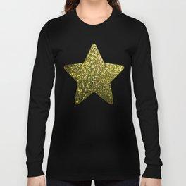 Mosaic Sparkley Texture Gold G188 Long Sleeve T-shirt
