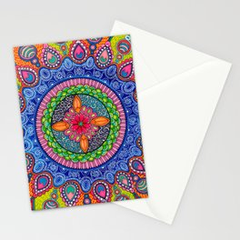 Mardi Gras Mandala Stationery Cards