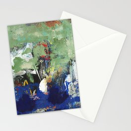 Finback Abstract Blue Green Stationery Cards