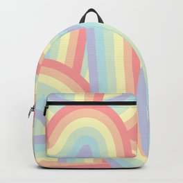 Soft Pastel Rainbow Stripes Pattern Backpack