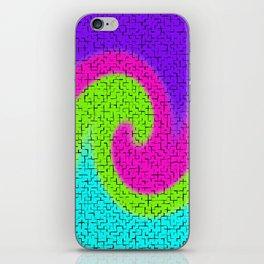 Tile Twirl Digital Illustration - Wave Swirl - Artwork iPhone Skin
