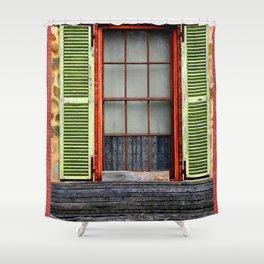 Window Shutters Shower Curtain
