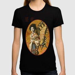 Vintage Japanese Geisha Design T-shirt