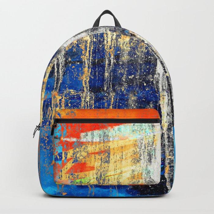 Golden Dawn, Abstract Landscape Art Backpack