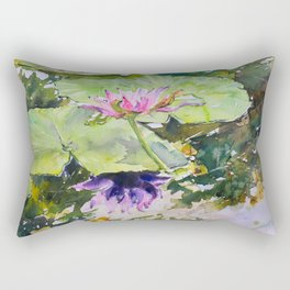 Flowering waterlily Rectangular Pillow