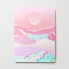 Peach Sun Metal Print