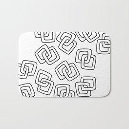 Chain Link Art Black and White Bath Mat