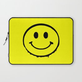 smiley face rave music logo Laptop Sleeve