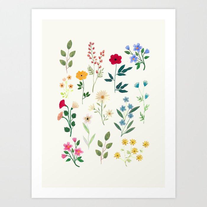 Spring Botanicals Art Print