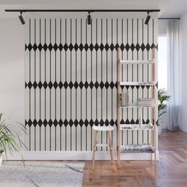 Minimal Geometric Pattern - Black and White Wall Mural