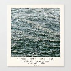 Set Sail (Franklin Delano Roosevelt Quote) Canvas Print