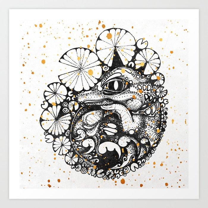 Baby Crocodile Inktober :: I Am The Unborn Art Print