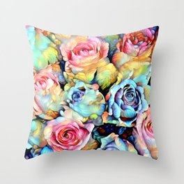 For Love of Roses Throw Pillow