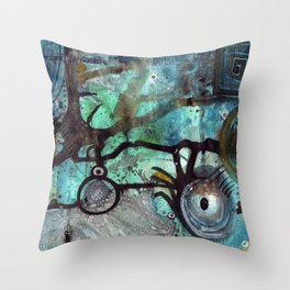 Joining The Dots Throw Pillow