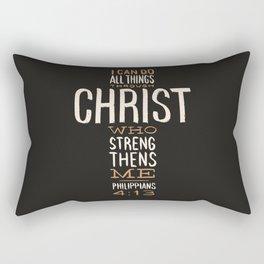 I Can Do All Things Through Christ Bible Verse Rectangular Pillow